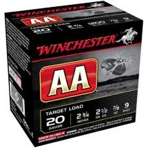 "Winchester AA Target Load 20ga 2.75"" 7/8 oz. #9 25/bx"