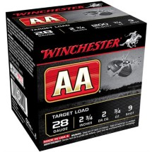 "Winchester AA Target Load 28ga 2.75"" 3/4 oz. #9 25/bx"