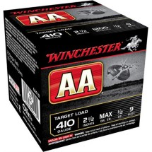 "Winchester AA Target Load 410ga 2.5"" 1/2 oz. #9 25/bx"