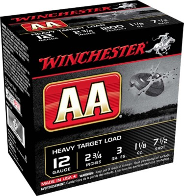 Winchester AA Heavy Target Load 12 Gauge 7.5 Shot 1 1/8 oz Shotshell Case' data-lgimg='{