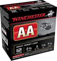 Winchester AA Heavy Target Load 12 Gauge 7.5 Shot 1 1/8 oz Shotshell Case