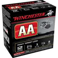 Winchester AA Heavy Target Load 12 Gauge 8 Shot 1 1/8 oz Shotshell Case