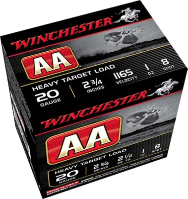 Winchester AA Target Load 20 Gauge 8 Shot 1 oz Shotshell Case