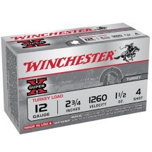"Winchester Super-X 12ga 2.75"" 1-1/2oz #4 10/bx"