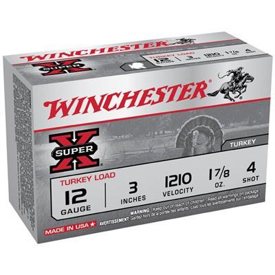 "Winchester Super-X 12ga 3"" 1-7/8oz #4 10/bx"