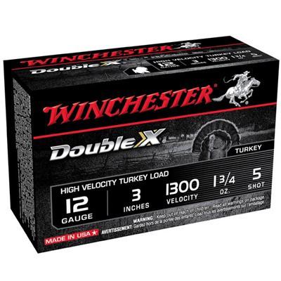 "Winchester Double X Turkey 12ga 3"" 1-3/4oz #5 10/bx"