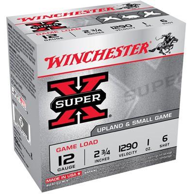 Winchester Ammo 12ga Supr-X Game 3.25d 1oz #6