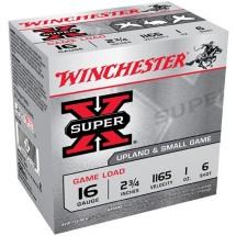 "Winchester Super X Game Load 16ga 2.75"" 1 oz. #6 25/bx"