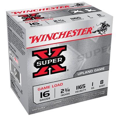 Winchester Ammo 16ga Supr-X Game 2.5d 1oz #8