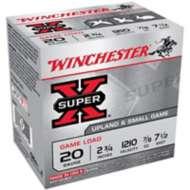 "Winchester Super-X Game Load 20ga 2.75"" 7/8oz #7.5 25/bx"