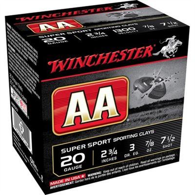 Winchester Shells 20ga S.C. 1275fps 7/8oz #7.5' data-lgimg='{