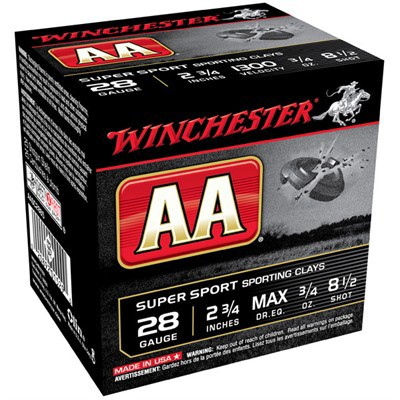 "Winchester Super Sport Clays 28ga 2.75"" 3/4 oz. #8.5 25/bx"