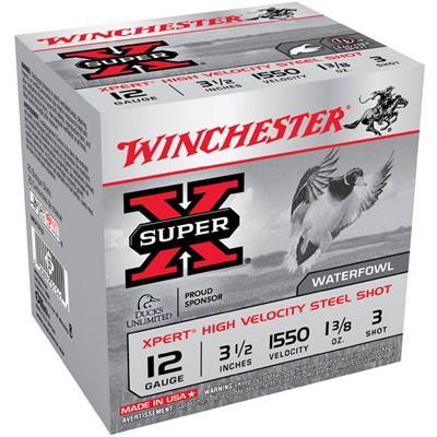 "Winchester Xpert HV Steel 12ga 3.5"" 1-3/8 oz. #3 25/bx"