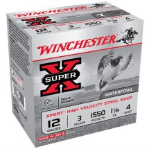 "Winchester Xpert HV Steel 12ga 3"" 1-1/8 oz. #4 25/bx"