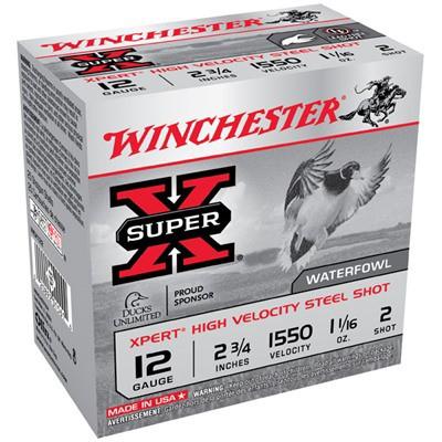 "Winchester Xpert HV Steel 12ga 2.75"" 1-1/16 oz. #2 25/bx"