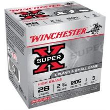 """Winchester Super-X High Brass 28ga 2.75"""" 1 oz. #5 25/bx"""