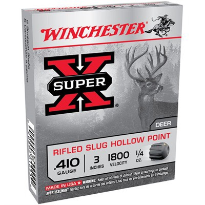 """Winchester Super-X 410ga 3"""" 1/4 oz. Slug 5/bx"""