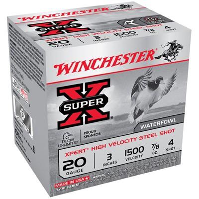 "Winchester Xpert HV Steel 20ga 3"" 7/8 oz. #4 25/bx"