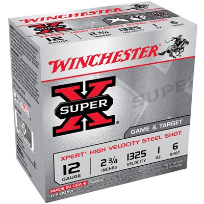 "Winchester Xpert HV Steel 12ga 2.75"" 1 oz. #6 25/bx"