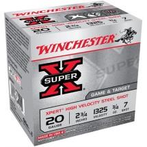 "Winchester Xpert HV Steel 20ga 2.75"" 3/4 oz. #7 25/bx"