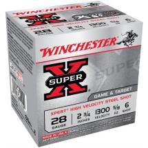 "Winchester Super-X Xpert HV Steel 28ga 2.75"" 5/8oz #6 25/bx"