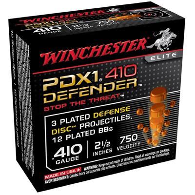 "Winchester PDX1 Defender 410ga 2.5"" 3-Discs, 12-BBs 10/bx"