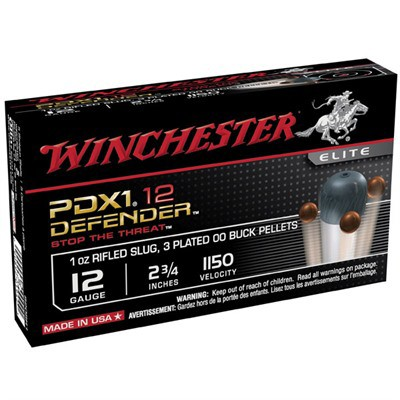 """Winchester PDX1 Defender 12ga 2.75"""" 1 oz. Slug, 3 #00 Pellet"""