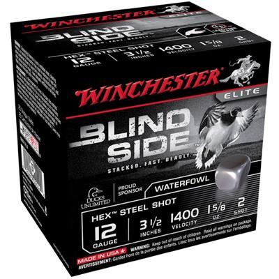"Winchester Ammo Blind Side 12ga 3-1/2"" #2 1-5/8oz 25/bx"