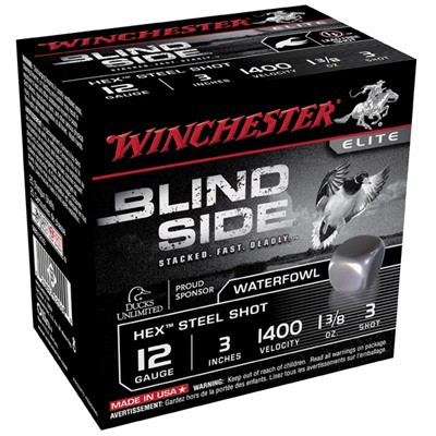 "Winchester Blind Side 12ga 3"" 1-3/8 oz #3 25/bx"