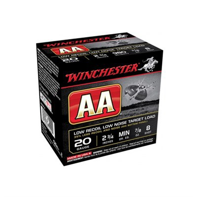 "Winchester 20 Ga Winlite Low Recoil Target Load 2-3/4"" #8"