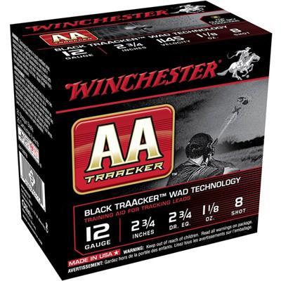 Winchester AA TrAAcker Black 12ga 1-1/8oz Light #8