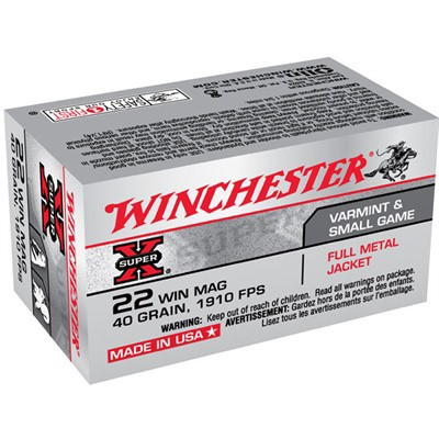 Winchester Ammo 22 Winchester Mag FMJ 40gr FMJ