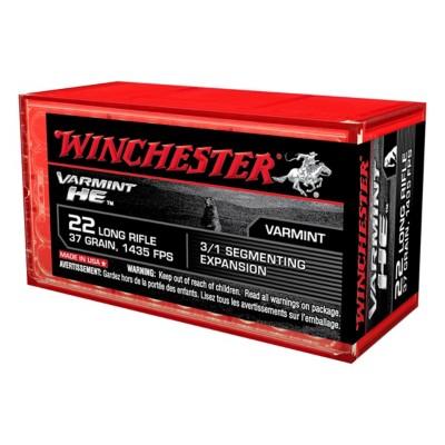 Winchester Varmint HE 22 LR 37gr Segmenting Expansion 50/bx