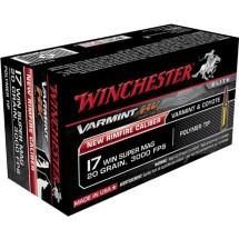 Winchester Varmint HV 17 Win Super Mag 20gr Polymer Tip 50/b