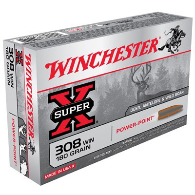 Winchester Ammo 308 Winchester Super-X 180gr PP