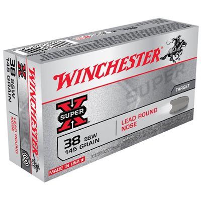 Winchester Ammo 38 S&W Super-X 145gr Lead LR