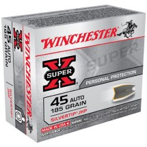 Winchester Silvertip 45 Auto 185gr JHP 20/bx