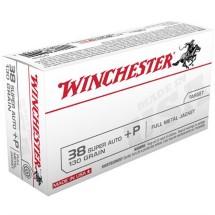 Winchester USA 38 Super Auto +P 130gr FMJ 50/bx