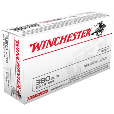 Winchester USA 380 Auto 95gr FMJ 50/bx