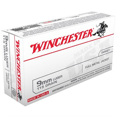 Winchester USA 9mm 115gr FMJ 50/bx