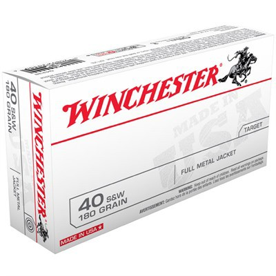 Winchester USA 40 S&W 180gr FMJ 50/bx