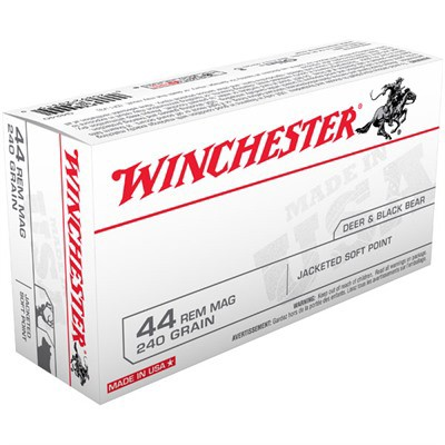 Winchester Ammo 44 Mag USA 240gr JSP