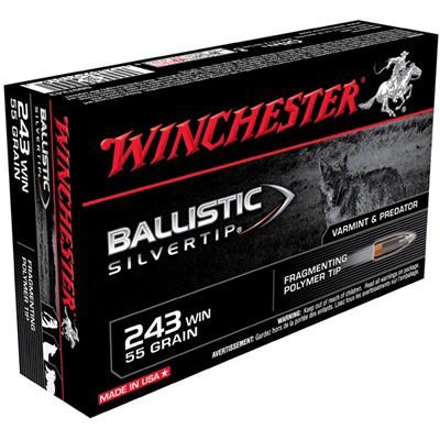Winchester Ammo 243 Winchester 55gr BST Ballistic Silver Tip