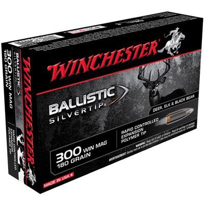 Winchester Ballistic Silvertip 300 Win Mag 180gr 20/bx