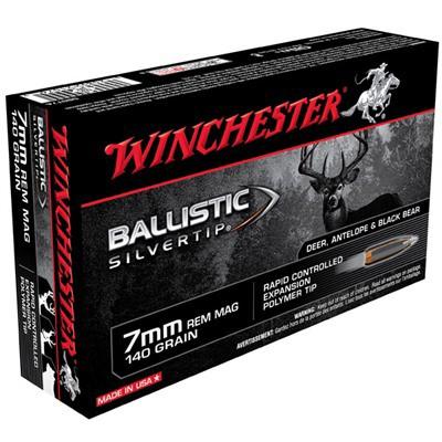 Winchester Ballistic Silvertip 7mm Rem Mag 140gr 20/bx