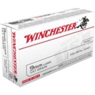 Winchester Ammo 9MM 147gr USA FMJ-TC