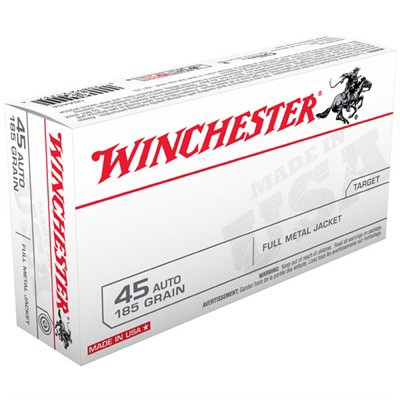 Winchester Ammo 45 ACP USA 185gr FMJ