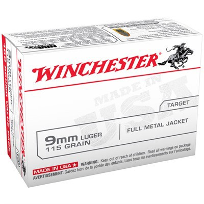 Winchester USA 9mm 115gr FMJ Value Pack 100/bx