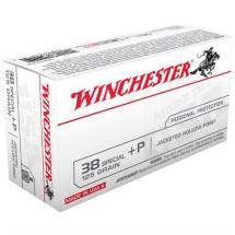 Winchester USA 38 Spl +P 125gr JHP 50/bx