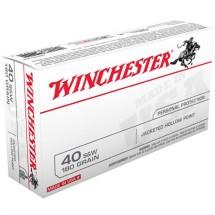 Winchester USA 40 S&W 180gr JHP 50/bx